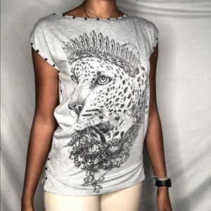 MANGO COLLECTION SOFT TOP ANIMAL QUEEN CHEETAH M